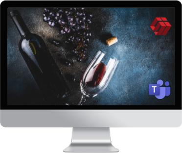 digital wine tasting con microsoft teams